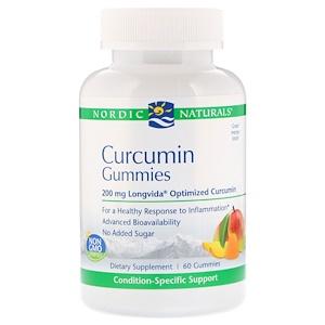 нордик Натуралс, Curcumin Gummies, Mango, 200 mg, 60 Gummies отзывы