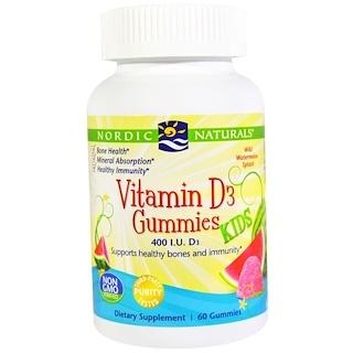 Nordic Naturals, Vitamin D3 Gummies Kids, 400 I.U., 60 Gummies