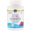 Жевательные витамины D3 + K2, Гранат, 60 мишек