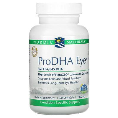 Nordic Naturals ProDHA Eye, 1,000 mg, 60 Soft Gels