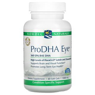 Nordic Naturals, ProDHA Eye, 500 mg, 60 Soft Gels