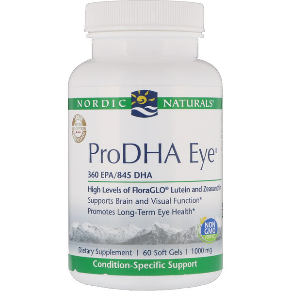 Nordic Naturals, ProDHA Eye, 1000 mg, 60 Softgels (Discontinued Item)
