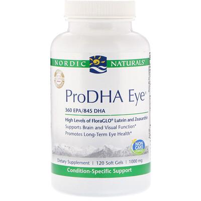 Купить ProDHA Eye, добавка для здоровья глаз, 1000мг, 120мягких таблеток