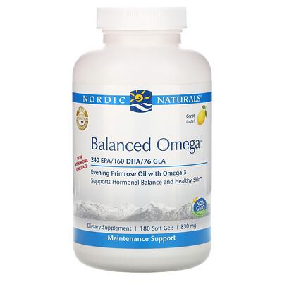 Купить Nordic Naturals Balanced Omega, со вкусом лимона, 830 мг, 180 мягких желатиновых капсул