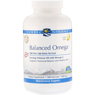 Nordic Naturals, Balanced Omega, Lemon Flavor, 830 mg, 180 Softgels