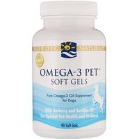 Кислоты омега-3 для домашних животных в гелевых капсулах, для собак, 90 гелевых капсул - фото