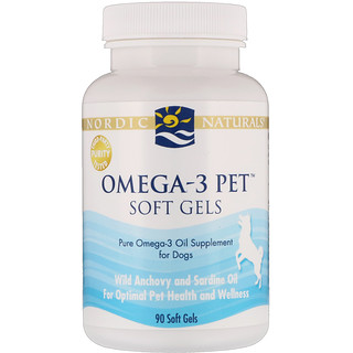 Nordic Naturals, Omega-3 Pet, Soft Gels, For Dogs, 90 Soft Gels