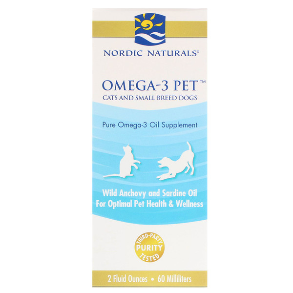Omega-3 Pet, Cats and Small Breed Dogs, 2 fl oz (60 ml)