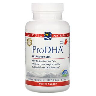 Nordic Naturals, ProDHA, клубничный вкус, 500мг, 120мягких таблеток