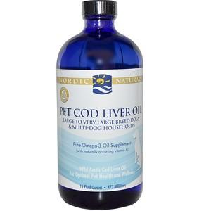 нордик Натуралс, Pet Cod Liver Oil, 16 fl oz (473 ml) отзывы покупателей