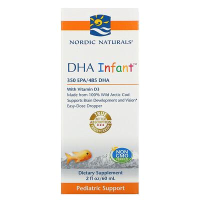 Nordic Naturals Докозагексаеновая кислота (ДГК) с витамином D3 для младенцев, 60 мл (2 жидкие унции)