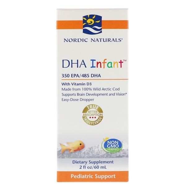 Nordic Naturals, 嬰兒 DHA,含維生素 D3,2 液體盎司(60 毫升)