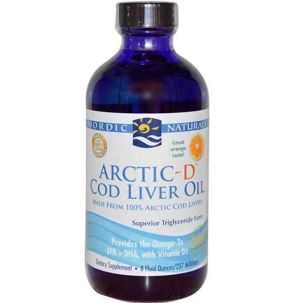 Nordic Naturals, Arctic-D Cod Liver Oil, Orange, 8 fl oz (237 ml) (Discontinued Item)