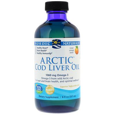 Жир печени арктической трески со вкусом апельсина, 237 мл (8 жидких унций)