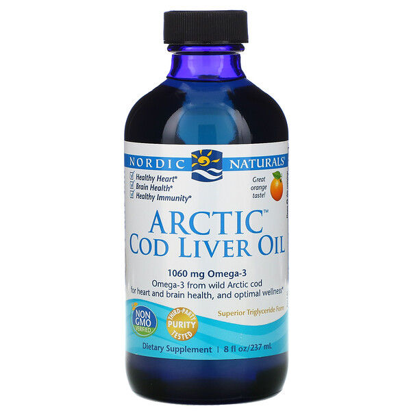 Arctic Cod Liver Oil, Orange, 8 fl oz (237 ml)