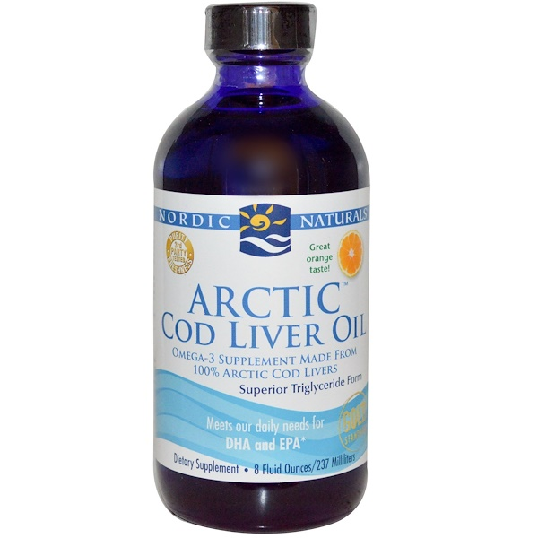 Nordic Naturals, Arctic Cod Liver Oil, Orange, 8 fl oz (237 ml)