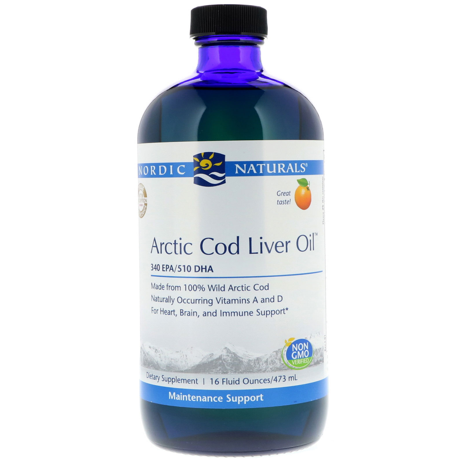 Nordic Naturals Arctic Cod Liver Oil Orange Flavor