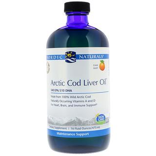 Nordic Naturals, Arctic Cod Liver Oil, Orange Flavor, 16 fl oz (473 ml)