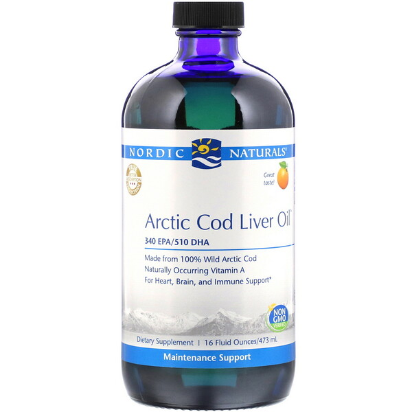 Arctic Cod Liver Oil, Orange , 16 fl oz (473 ml)