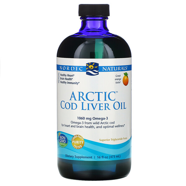 Nordic Naturals, Arctic Cod Liver Oil, Orange , 16 fl oz (437 ml)