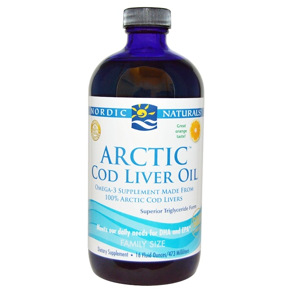 Nordic Naturals, Arctic Cod Liver Oil, Orange, 16 fl oz (473 ml)