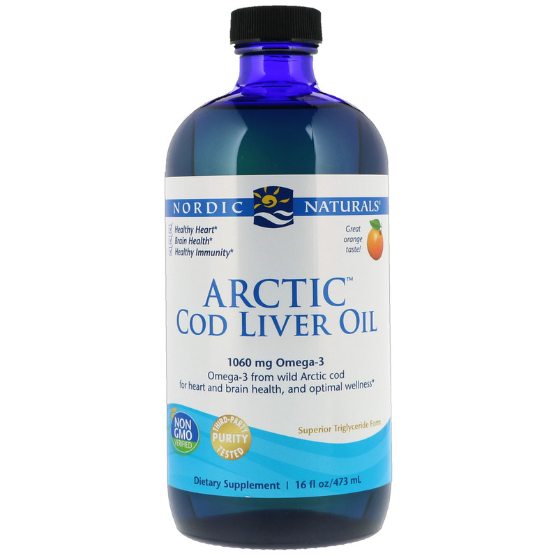 Arctic Cod Liver Oil, Orange , 16 fl oz (437 ml)