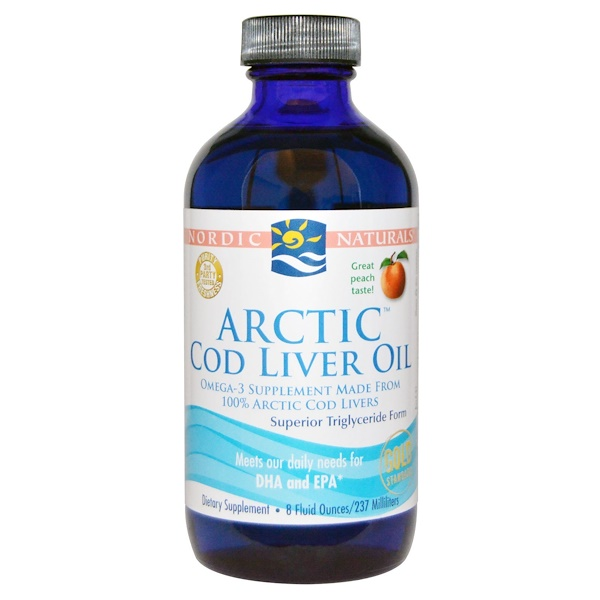 Nordic Naturals, Arctic Cod Liver Oil, Peach, 8 fl oz (237 ml) (Discontinued Item)