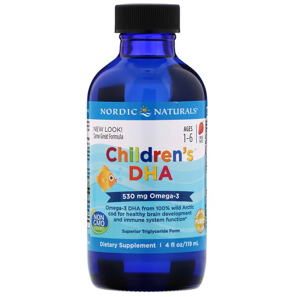 Nordic Naturals, Children's DHA, Morango, 119 ml (4 fl oz)