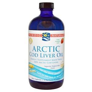 нордик Натуралс, Arctic Cod Liver Oil, Strawberry, 16 fl oz (473 ml) отзывы покупателей