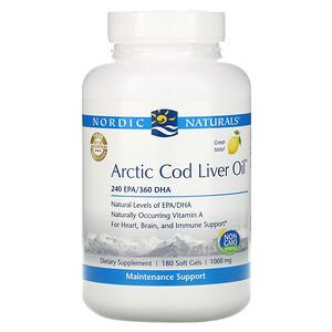 нордик Натуралс, Arctic Cod Liver Oil, Lemon, 1,000 mg, 180 Softgels отзывы