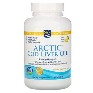 нордик Натуралс, Arctic Cod Liver Oil, Lemon, 1000 mg, 180 Soft Gels отзывы покупателей
