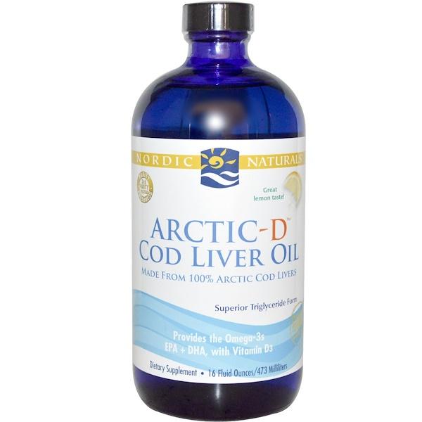 Nordic Naturals, Arctic-D Cod Liver Oil, Lemon, 16 fl oz (473 ml) (Discontinued Item)