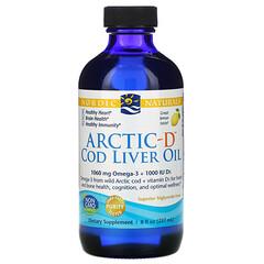 Nordic Naturals, Arctic-D 鱈魚肝油,檸檬味,8 液量盎司(237 毫升)