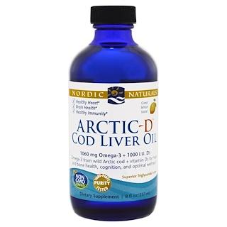 Nordic Naturals, Arctic-D Cod Liver Oil, Lemon, 8 fl oz (237 ml)