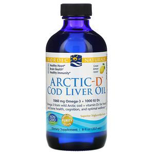 нордик Натуралс, Arctic-D Cod Liver Oil, Lemon, 8 fl oz (237 ml) отзывы покупателей