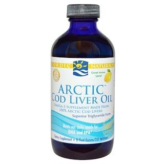 Nordic Naturals, Arctic Cod Liver Oil, Lemon, 8 fl oz (237 ml)