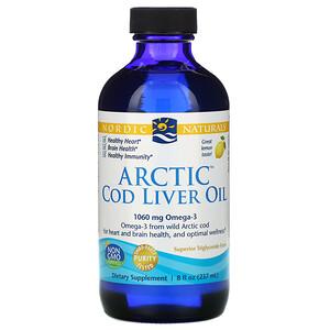 нордик Натуралс, Arctic Cod Liver Oil, Lemon, 8 fl oz (237 ml) отзывы покупателей