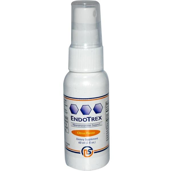 NeuroScience, Inc., EndoTrex, Neurotransmitter Support, Citrus Flavor, 2 fl oz (60 ml) (Discontinued Item)