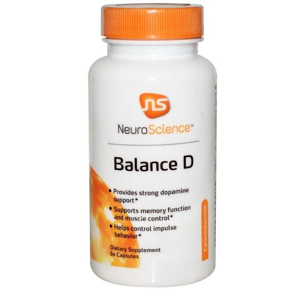 NeuroScience, Inc., Баланс D (Balance D), 60 капсул (Discontinued Item)