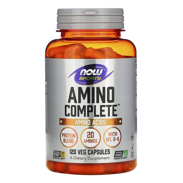 Amino Complete, аминокислотный комплекс, 120вегетарианских капсул