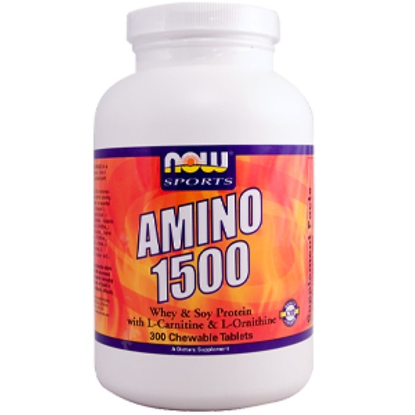 Now Foods, Amino 1500, 300 Chewable Tablets (Discontinued Item)