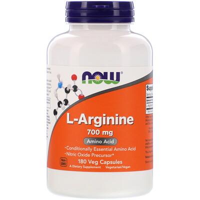 Now Foods L-Arginine, 700 mg, 180 Veg Capsules
