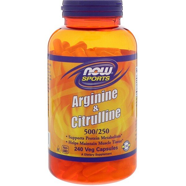 Now Foods, Sports, Arginine & Citrulline, 240 Veg Capsules