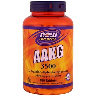 Now Foods, Sport, AAKG 3500, 180 Tabletten