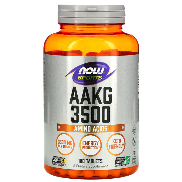 Sports, AAKG 3500, Amino Acids, 180 Tablets