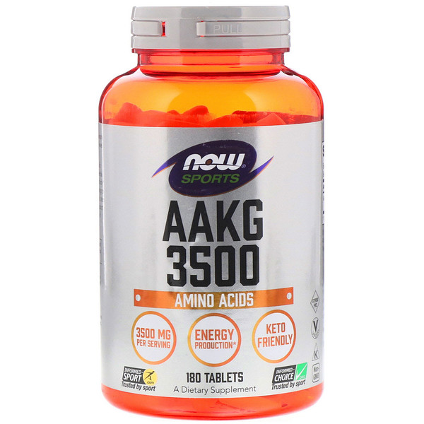 Now Foods, Sports, AAKG 3500, Amino Acids , 180 Tablets