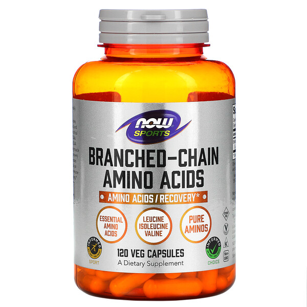 Now Foods, Sports, Branched-Chain Amino Acids, 120 Veg Capsules