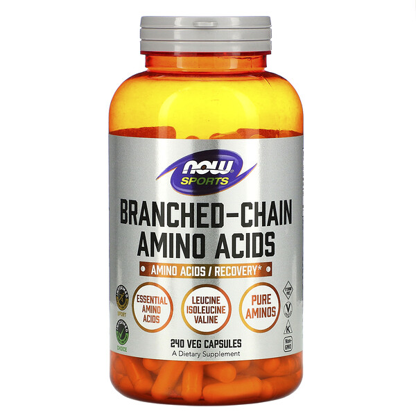 Now Foods, Sports, Branched-Chain Amino Acids, 240 Capsules