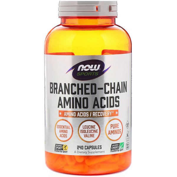 Now Foods, Sports, Branched Chain Amino Acids, 240 Capsules