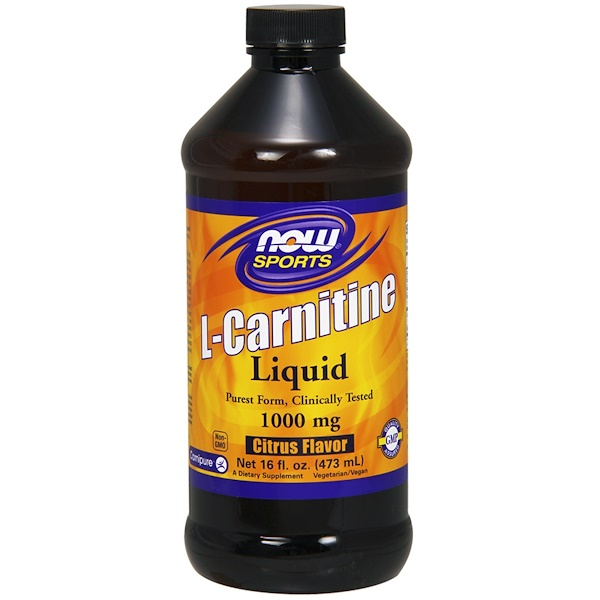 Now Foods, L-Carnitine Liquid, Citrus Flavor, 1,000 mg, 16 fl oz (473 ml)